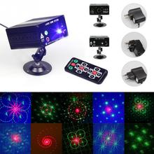 Stage Laser LED Red Blue Green Light Mini 48 Patterns Laser Projector Stage Lighting LED RGB Lights Party DJ Disco Lightings(China)