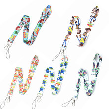 2019 Cartoon Pixar Movie Toy Story 4 Forky Lanyard Camera Mobile Phone Keychain Kids Birthday Gift Bag Hanger Accessories(China)