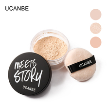 UCANBE brand lightweight loose powder professional bare mineral face foundation powder palette moisture oil free natural makeup