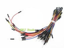 Free Shipping 65pcs/LOT *10 =650pcs Lot New Solderless Flexible Breadboard Jumper Cables