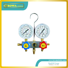 R134a R22, R407C and R404a manifold Gauge set with  aluminium alloy valve body for  heat pump repair or refrigerant charging