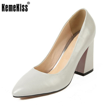 Buy KemeKiss Size 30-47 Mature Women High Heel Shoes Solid Color Pointed Toe Thick Heel Pumps Office Lady Dress Shoes Women Footwear for $31.98 in AliExpress store