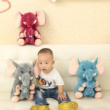 2017 MAY New Mother Baby Elephant Plush Toy Cute 20cm 35cm Stuffed Doll 1pcs Children Present Wholesale Free Shipping