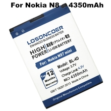 LOSONCOER 4350mAh BL-4D / BL 4D Mobile Phone Battery Use for Nokia N97 mini,N8,E5-00 E5 E7 T7 etc phones