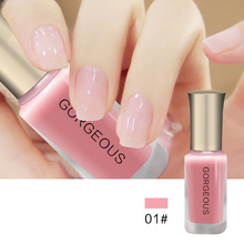 BK Brand Nude Series Translucent Nail Polish Like Jelly Lacquer Professional Nail Art Paint Enamel Cosmetics 12 Color