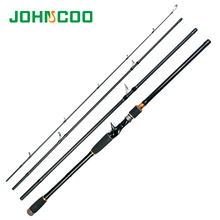 JOHNCOO Casting Fishing Pole 2.1 2.4 2.7m Lure Rod 4 Sections Carbon Fishing Rod Travel Rod Vava De Pesca Saltwater Rod