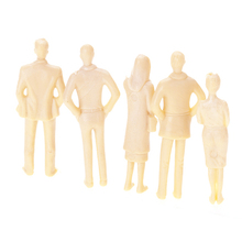 Newest 20pcs Unpainted Model Train People Figures 1:30 Model Building Kits DIY Project Figure Passenger Family Toys for Children(China)