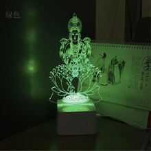 3D LED desk Lamp Table  India god light High brightness New Home Decorations