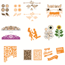 14 Styles Dunk Festivel Sunflower Travel Cards Tool Craft Dies Cutting 3D Stamp DIY Scrapbooking Card Making Photo Decor Supply