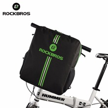 ROCKBROS Bicycle Bag Cycling Panniers Folding Bike Carrier Bags Foldable Bicycle Accessories With Backpack+Anti-dust Bag bmx(China)