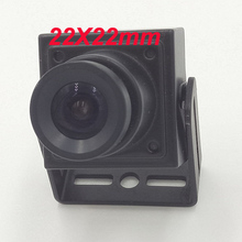 CNDST CCTV Sony CCD Black and White Mini Square Camera Low Lux 22X22mm 480TVL 600TVL Mini B/W Industrial Camera 3.6mm Board lens(China)