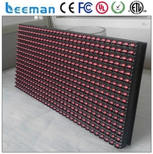 Leeman P10 mono color red green white yellow blue p10 outdoor single color led display module from Leeman display technology ltd