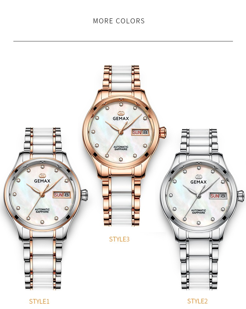 GEMAX Women Watches Waterproof Automatic Mechanical Watch Ladies Fashion Top Brand Diamond Calendar Ceramic Sapphire MIYOTA 2017 (10)