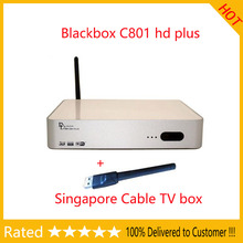 3.28 SALE!Singapore cable box tv receiver blackbox starhub set top box BLACKBOX C801 Plus builtin wifi good resolution hd+wifi