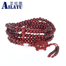 Ailatu Wholesale Free Shipping 10pcs/lot Red and Green Sandalwood Bracelets, Fashion Buddhist Tibetan Style Prayer Mala Beads