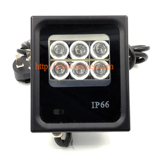 6 PCS LED 30M White Light Illuminator IP66 light lamp For CCTV security camera DC/AC Angle 15-90 Degrees Optional (SI-B6IR)