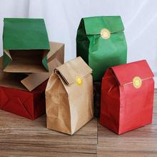18*7.5*32cm Natural Kraft Paper Party Bags for Gifts Wedding Favors Candy Bag Present Bag Brown Green Red Packing Bag