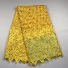 2017 Hot Sales High Quality African Chemical Lace Fabric Water Soluble Colorful Nigerian Guipure Wedding African Lace Fabrics(China)