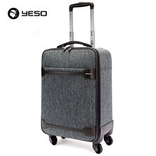 YESO Business Casual Suitcase Carry On Spinner Wheel Travel Luggage New Design Waterproof Suitcases With Wheel Luggage Unisex(China)