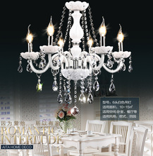 AC90-260V Noble Luxurious Export K9 White Crystal Chandelier 6 Arms Optional Lustres De Cristal Chandeliers Free Shipping