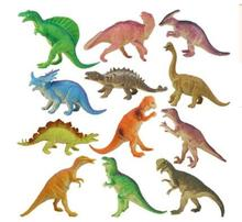 12pcs/lot Dinosaur Toy Set Plastic Play Toys Dinosaur Model Action and Figures Best Gift for Boys