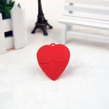 Red heart U disk Mega Fabrica Crystal heart love pendrive 2G 4G 8G 16G 32G 64G pen drive jewelry usb flash drive free shipping