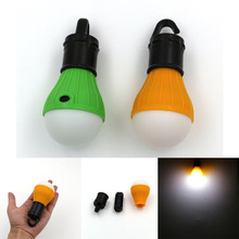 Portable outdoor Hanging 3-LED Camping Lantern,Soft Light LED Camp Lights Bulb Lamp For Camping Tent Fishing 4 Colors,AAA