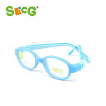 SECG Optical Children Glasses Frames Plastic Titanium Vision Correction Glasses Children Myopia Amblyopia Kids Eyewear TC149(China)