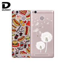 TPU Soft Cases For Xiaomi Redmi 3s Pro Redmi 3s Transparent Printing Drawing Silicone Phone Cases Cover For Redmi 3 Pro