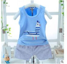2016 In the summer , the new children's wear sleeveless vest pocket bowknot + plaid shorts for 1-4 years old baby(China)