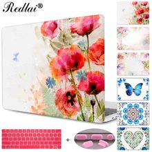 Plastic Hard Case For Macbook Air Pro Retina 11 12 13 15 Laptop Case Pro Pro 13 15 Retina Display & Touch Bar Butterfly Floral