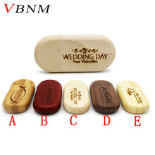 VBNM Wood usb Flash Drive pen drive 4gb 8gb 16gb 32gb Pendrive Gifts memory stick U Disk Customize Logo 100% Real Capacity