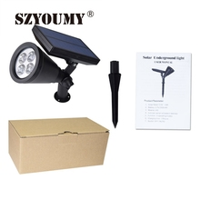 SZYOUMY LED Solar Lights In-ground Lights Auto-On/Off Night/Day Solar Landscape Lights White / RGB 4 LED Solar Outdoor Solar