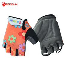 Boodun Kids Bicycle Gloves Half Finger Summer Microfiber Breathable Roller Skate Cycling Outdoor Sport Gloves for Boys and Girls