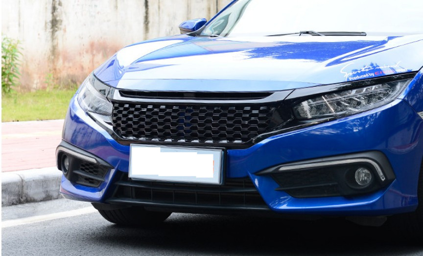 For Honda Civic 2016.2017 Racing Grills Black lacquer that bake Grille HIGH QUALITY Replace the installation Car Accessories(China (Mainland))