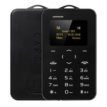 Original AEKU C6 Mini Emergency Card Phone Phone With Backup Wallet Phone Ultrathin Student Version Credit Card Bluetooth(China)