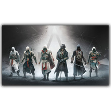 Assassins Creed Video Game Poster Boys Room Decor Silk Print Poster Picture Wallpaper YX195