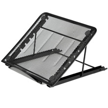Portable Folding/Adjustable Mesh Laptop Notebook/ Book/ipad Table /Desk/ Tray /Stand /Cooling Stand,Black(China)