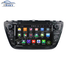 1024*600 Quad Core 16G 8 inch Pure Android 5.1.1 Car DVD player for Suzuki SX4 2014 S Cross 2014 GPS Navigation Brand new