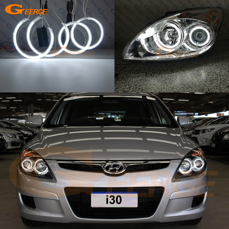 For Hyundai i30 2007 2008 2009 2010 2011 Hatchback Wagon Headlight Excellent Ultra bright illumination CCFL Angel Eyes kit<br>