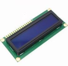 Free Shipping 1PCS LCD1602 1602 module Blue screen 16x2 Character LCD Display Module HD44780 Controller blue black light
