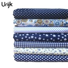 Urijk 7PCs Mixed Cotton Fabric DIY Handmade Sewing Home Decoration Cheap Fabrics For Patchwork Needlework Accessories 25x25cm(China)