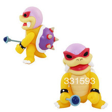 Super Mario Figure 4inch 10cm Roy Koopa pvc toy doll baby figures for Christmas gifts free shipping