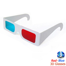 Universal Paper 3D Glasses virtual video rearview Anaglyph red cyan (blue) 3D glasses paper view For movie