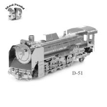 3D Metal Puzzles Miniature Model DIY Jigsaws Model Gift Silver Car Train  Japan D51 Locomotive