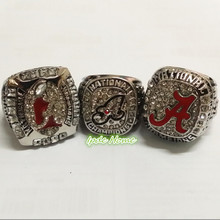 2016 Hot Sale 3pcs Per Set NCAA 2011 2012 2015 Alabama Crimson Tide Championship Rings Replica For Fans Collection Drop Shipping