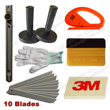 EHDIS Car Styling Tool Kits Vinyl Film Sticker Wrap Tool Cutter Knife Blades Glove 3d Car Carbon Fiber Clean Scraper 3M Squeegee