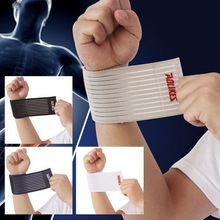 1Pair fitness cotton elastic bandage hand wrist straps sport tape wristband support wrist protector tennis wrist brace gym wraps