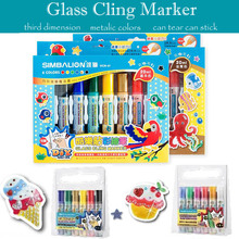 simbalion glass paint marker for Parents-child Campaign stereograph on window metal color ceramic markers kids diy decorate door(China)