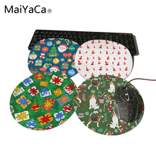 MaiYaCa Round Beagle Christmas Pet Friendly Dog Customize Your Own Image Good Quality Anti-Skid Table Mats Paper for Dog Lover(China)